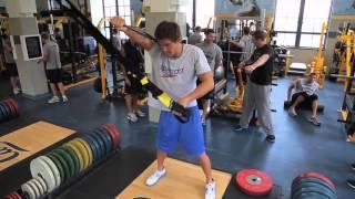 Тренировка в зале американского пловца Натана Адриана Nathan Adrian Dryland Workout