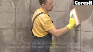 Installation of chemical resistant system: Grouting