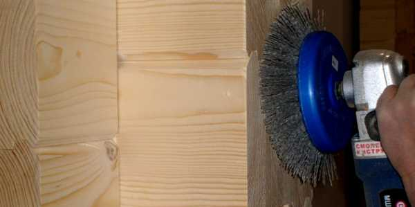 Как шлифовать брус внутри дома