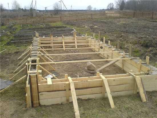 Строительство тепличных фундаментов